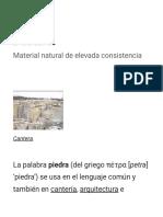 Piedra - Wikipedia, La Enciclopedia Libre