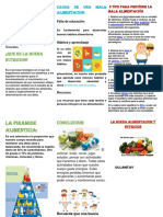 TRIPTICO La Buena Alimentacion y Nutricion1