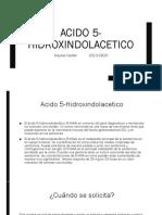 Acido 5-Hidroxindolacetico