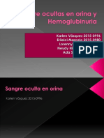 Prueba de Sangre Ocultas en Heces y Hemoglubinuria