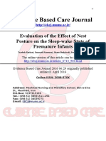 3. Evaluation of the Effect of Nest Posture on the Sleep-wake