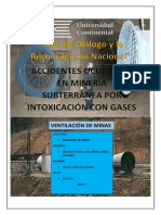 Accidentes Occuridos Por Intoxicacion de Gases