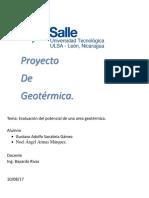 Proyecto de Geotermica
