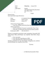 Surat Permohonan Sip-kadis