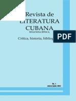 Revista de Literatura Cubana