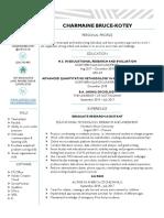charmaine bk resume