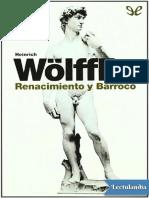 Renacimiento y Barroco - Heinrich Wolfflin