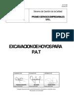 Excavacion de Hoyos Para PAT - REV 01BENARDO