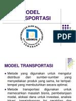 Pertemuan 13-14 Model Transportasi