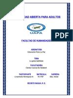 Tarea Livi Educacion Para La Paz