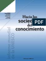 Hacia Las Sociedades Del Conocimeinto UNESCO