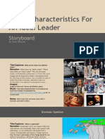 storyboard on traits of an ideal leader