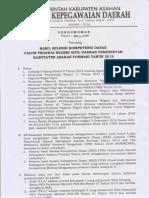 Pengumuman Hasil SKD CPNS Asahan 2018