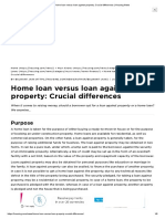 Home loan versus loan against property