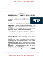 CBSE Class 12 Biology - Biotechnology and Its Applications Assignment