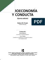 Microeconomía y Conducta