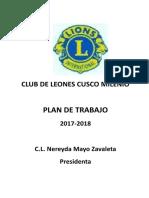 Plan de Trabajo 2017-2018 Milenio