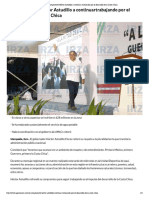 07-11-2018 Se compromete Héctor Astudillo a continuartrabajando por el desarrollo de la Costa Chica.