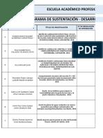 Cronograma de Proyecto y Desarrollo de Investigación Ingenieria Civil