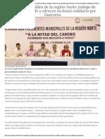 12-11-2018 Respaldan alcaldes de la región Norte trabajo de Héctor Astudillo y ofrecen su brazo solidario por Guerrero.