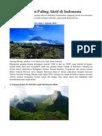 10 Gunung API Paling Aktif Di Indonesia
