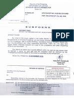 Subpoena vs Representatives Antonio Tinio, Ariel Casilao