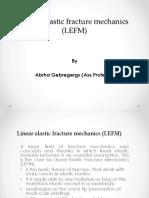 Linear Elastic Fracture Mechanics New