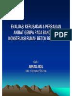 1813_EVALUASI KERUSAKAN & PERBAIKAN AKIBAT GEMPA PADA BANGUNAN KONSTRUKSI RUMAH BETON BERTULANG.pdf