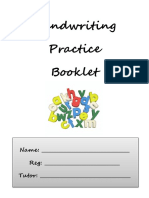 Handwritting Practice Booklet