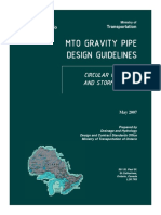 Gravity UG Pipe Design Process