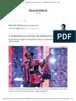 A Matemática a Serviço Da Democracia - 19-09-2018 - Marcelo Viana - Folha