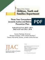 3 Yr Jj Delinquency Prevention Plan Fy16 18
