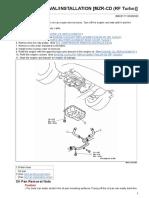 Oil Pan Removal - Installation [Mzr-CD (Rf Turbo)]