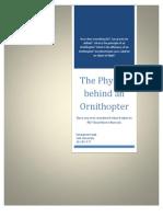 Assignment#4 - Ornithopters - Process Description - Eng 1001 Final