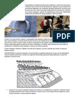 Erosión, Sedimentación y Vulcanismo