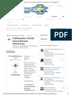 Calibrações e Dicas Para Balanças Eletrônicas - Assuntos Diversos - EletrônicaBR.com