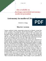 Astronomy in Medieval Jerusalem - DAVID A. KING - Islamic Astronomy