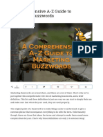 A Comprehensive a-Z Guide to Marketing Buzzwords - The Marketin