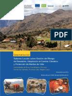 Saberes Locales sobre Gestión del Riesgo de Desastres, Adaptación al Cambio Climático y Protección de Medios de Vida