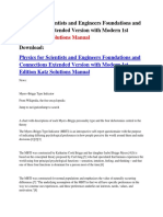 Physics for Scientists and Engineers Foundations and Connections Extended Version With Modern 1st Edition Katz Solutions Manual