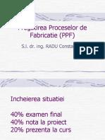 Pregatirea Proceselor de Fabricatie
