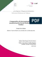 PEÑA - Comparativa de Herramientas de Monitorización Social Media Para Twitter