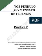 Ensayos Péndulo Charpy y Ensayo de Fluencia , Práctica 2