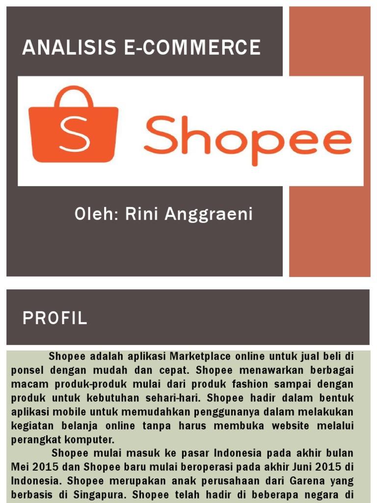 Rini Analisis E Commerce Shopee Pptx