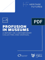 Profusion in Museums Report