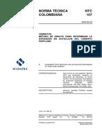 NTC 107 Método para Determinar la Expansión en Autoclave del Cemento Pórtland.pdf