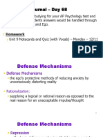 unit 9 - day 2 - defense mechanisms