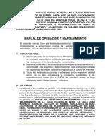 Manual de Operación y Mantenimiento Vía Urbana.