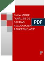 ANÁLISIS DE CALIDAD REGULATORIA
