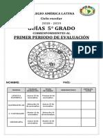 GUIA DE 5TO GRADO PRIMARIA PRIMER PERIODO NUEVO MODELO EDUCATIVO